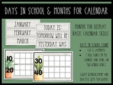 Plant Themed Days in School Count & Calendar Months