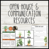 Plant Themed Open House & Communication Resources with Editable Templates!
