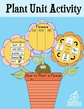 Plant Unit Activity: Science, Writing, and Graphic Organizers
