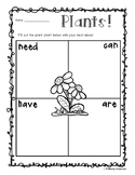 """Freebie - Plant Unit: """"Needs - Can - Have - Are"""" Chart"""