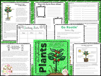 Plants Unit: Needs, Structures, Functions, Classification, and Life Cycle