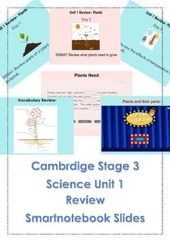 Plant Unit Review Slides (Cambridge Science Unit 1 Stage 3/Grade 2)