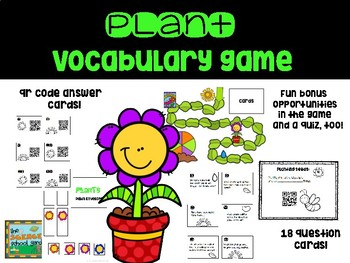 Plant Unit Review and Vocabulary Games