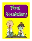 Plant Vocabulary Cards