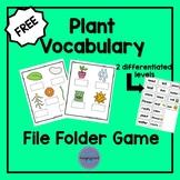 Plant Vocabulary File Folder Game