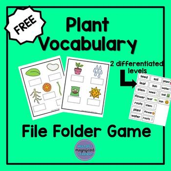 Plant Vocabulary File Folder Game