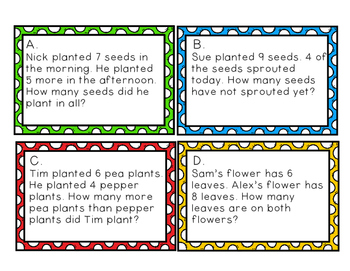 Plant Word Problem Task Cards