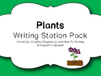 Plants Writing Station Pack in English and Spanish