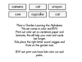 Plant a Garden Learning Alphabet  Cc
