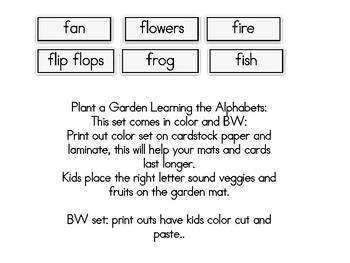 Plant a Garden Learning Alphabet  Ff