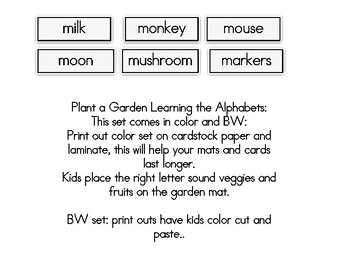 Plant a Garden Learning Alphabet  Mm