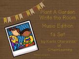 Plant a Garden Write the Room - fa Music Edition