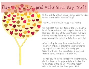 Plant a Kiss: A Valentine's Day Book Companion & Craft for Literacy Intervention