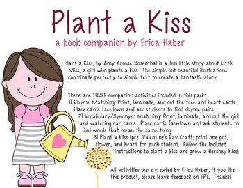 Plant a Kiss: A Valentine's Day Book Companion & Craft for