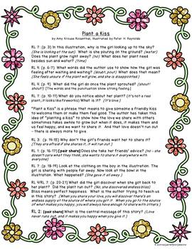 Plant a Kiss: Text-Dependent Questions and Writing Activity