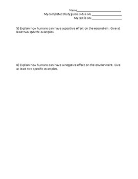 Plant and Animal Adaptation Study Guide