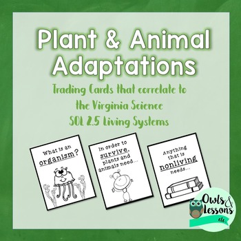 Plant and Animal Adaptation Trading Cards