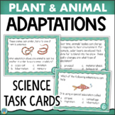 Plant and Animal Adaptations Science Task Cards