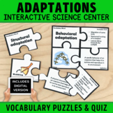 Plant and Animal Adaptations Vocabulary Puzzles