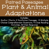 Plant and Animal Adaptations Reading Comprehension Paired