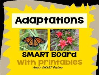 Adaptations: Plant and Animal SMART Board Lessons with printables