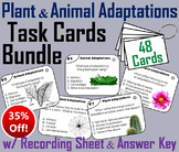 Plant and Animal Adaptations Task Cards  (Animal Habitats and Biomes Unit)