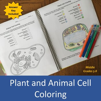 Plant and Animal Cell Coloring Activity