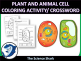 Plant and Animal Cell Coloring Activity/ Crossword