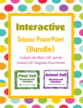 Plant and Animal Cell Diagram (Structures and Functions) PPT {Bundle}