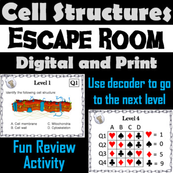 Plant and Animal Cell Organelles Activity: Biology Escape Room - Science