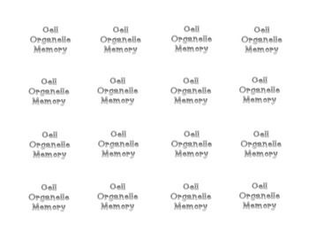 Plant and Animal Cell Organelles Memory Game