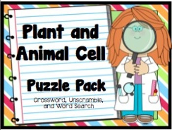 Plant and Animal Cell Puzzle Pack
