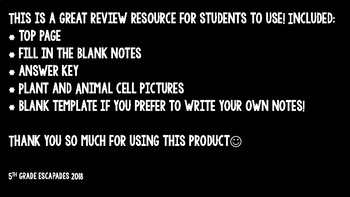 Plant and Animal Cell Review Flip Flower