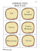 Plant and Animal Cell Study Cards/Memory Game