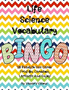 Plant and Animal Cell Vocabulary BINGO