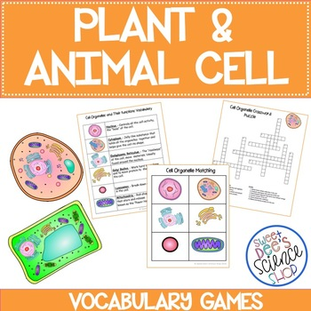 Plant and Animal Cell Vocabulary Games Bundle