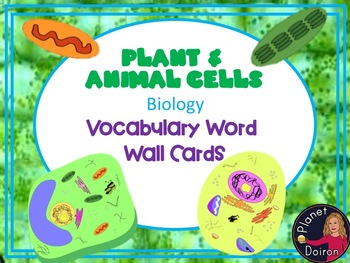 Plant and Animal Cells Elementary biology vocabulary word wall cards