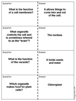 Plant and Animal- Cells Quiz, Quiz, Trade