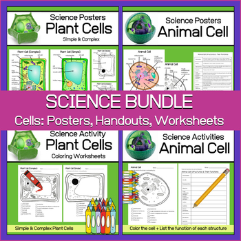 Plant and Animal Cells | Science Bundle