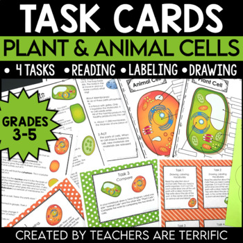 Plant and Animal Cell  Task Cards
