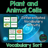 Plant and Animal Cells Vocabulary Sort