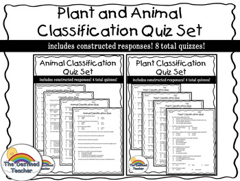 Plant and Animal Classification Quizzes- 8 total!