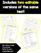 Plant and Animal Classification Test and Study Guide
