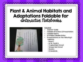 Plant and Animal Habitats and Adaptations Foldable and Presentation Set