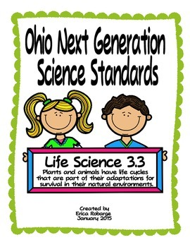 Plant and Animal Life Cycles Tab Booklet (Ohio LS 3.3)