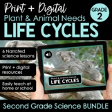 Plant and Animal Life Cycles, Needs, Interdependence 2nd Grade Science BUNDLE