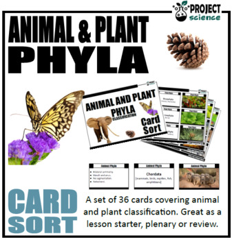 Plant and Animal Phyla Card Sort