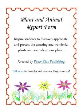 Plant and Animal Report Form
