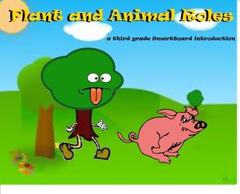 Plant and Animal Roles - A Third Grade Smartboard Introduction