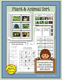 Plant and Animal Sort (real photos sort and cut-&-paste ex